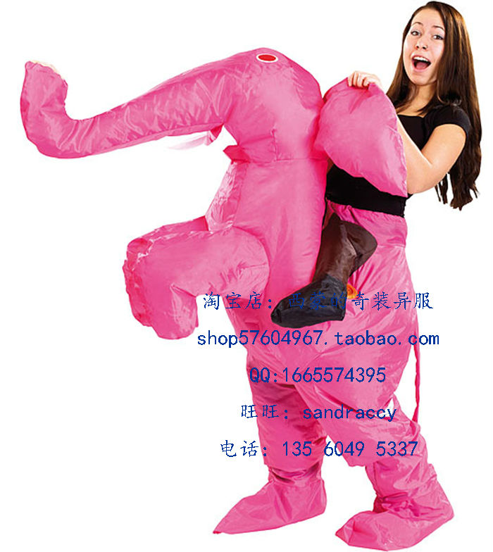 Girl In Very Funny Pink Elephant Dress - photo#7