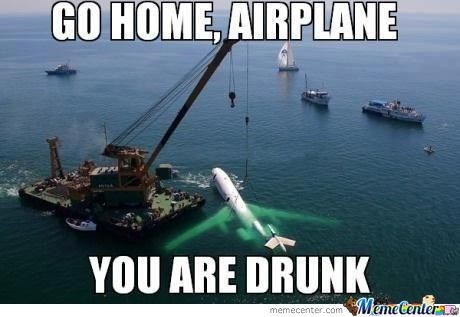 Go Home Airplane You Are Drunk Funny Plane Meme