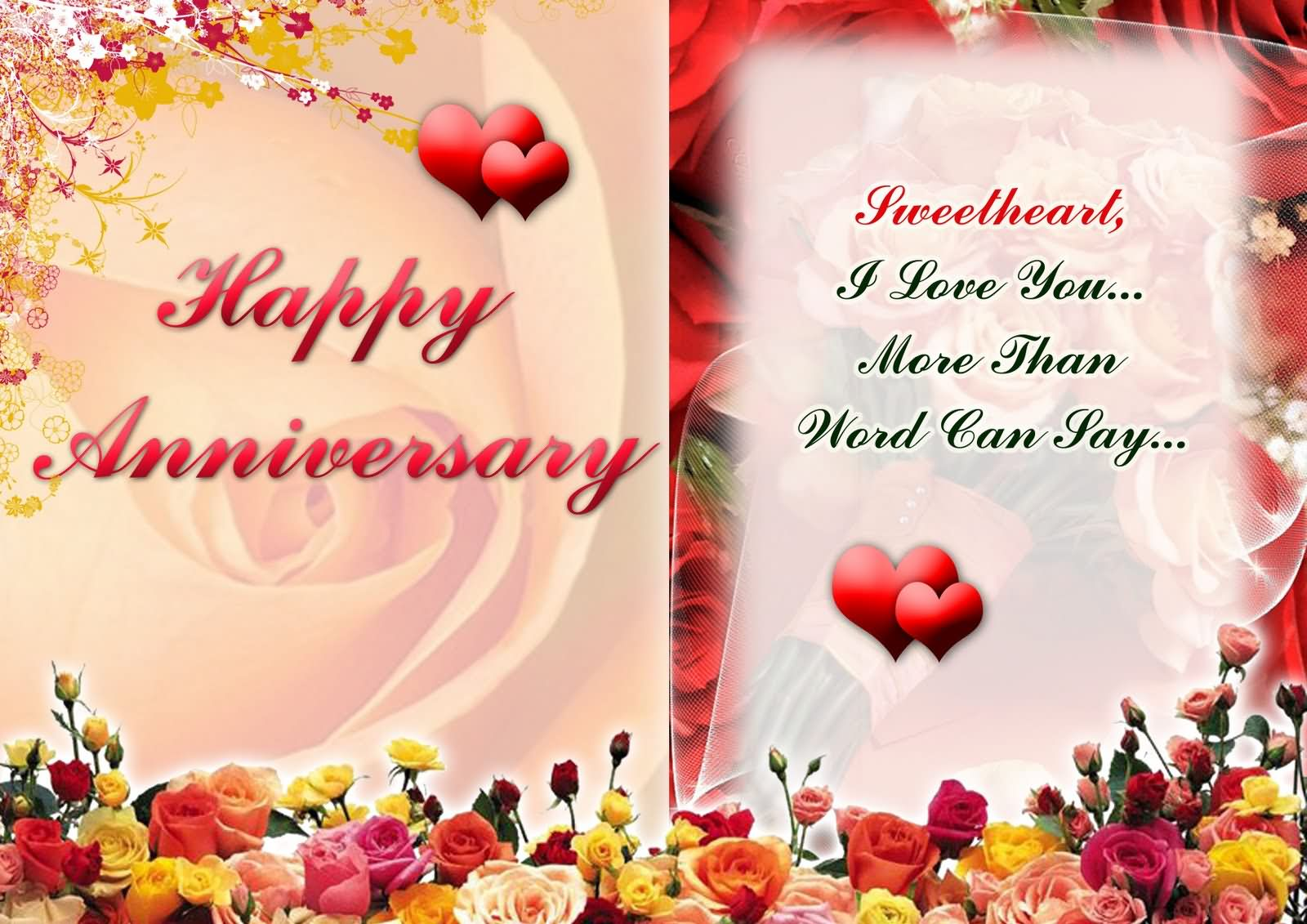 words to say happy anniversary