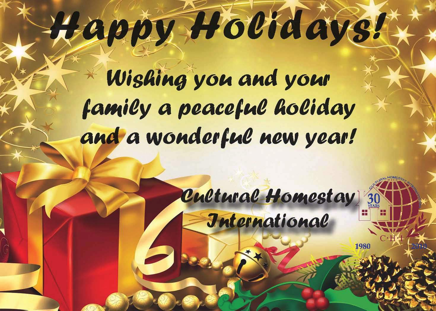 35 wonderful happy holidays greeting card pictures happy holidays wishing you and your family a peaceful holiday greeting card m4hsunfo