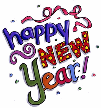 happy new year colorful text picture