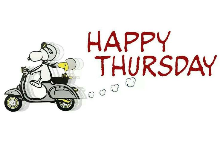 Happy Thursday Snoopy On Scooter
