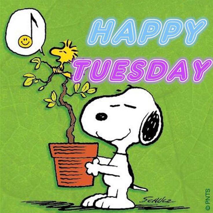 Happy Tuesday Snoopy Dog Image