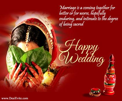 Happy Wedding Wishes Pictrure - Traditional Wedding Wishes