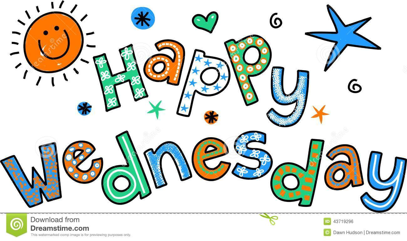 Happy Wednesday Colorful Clipart Wednesday Coffee Quotes