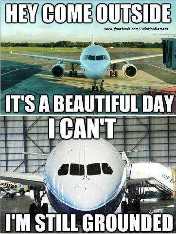Hey Come Outside It's Beautiful Day Funny Plane Meme