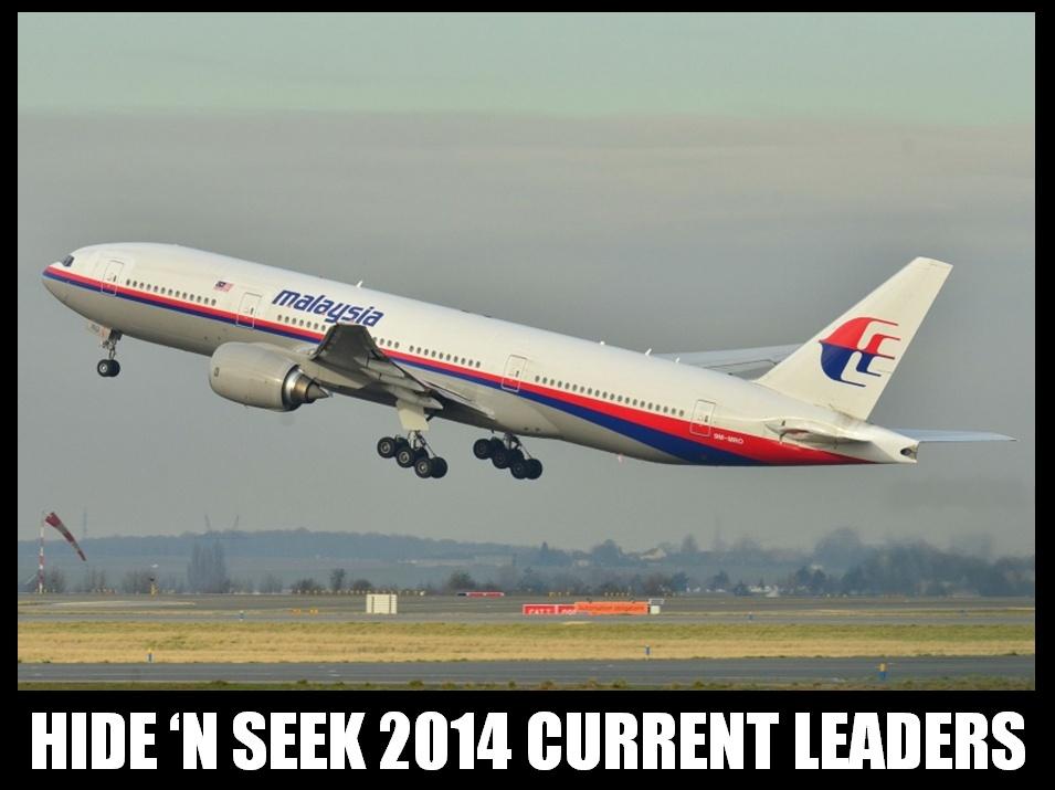 Hide N Seek 2014 Current Leaders Funny Plane Poster