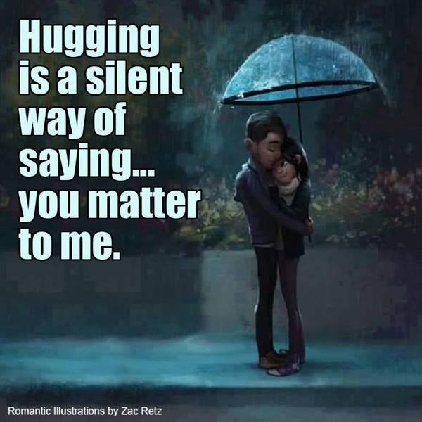 Really Cute Quotes For Your Best Friend Hugging is a silent wa...