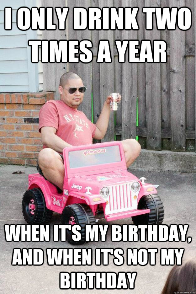 Funny Birthday Drinking Meme : Birthday no happy for you funny meme image