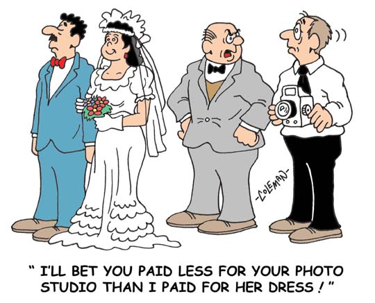 I Will Bet You Paid Less For Your Photo Funny Wedding Cartoon