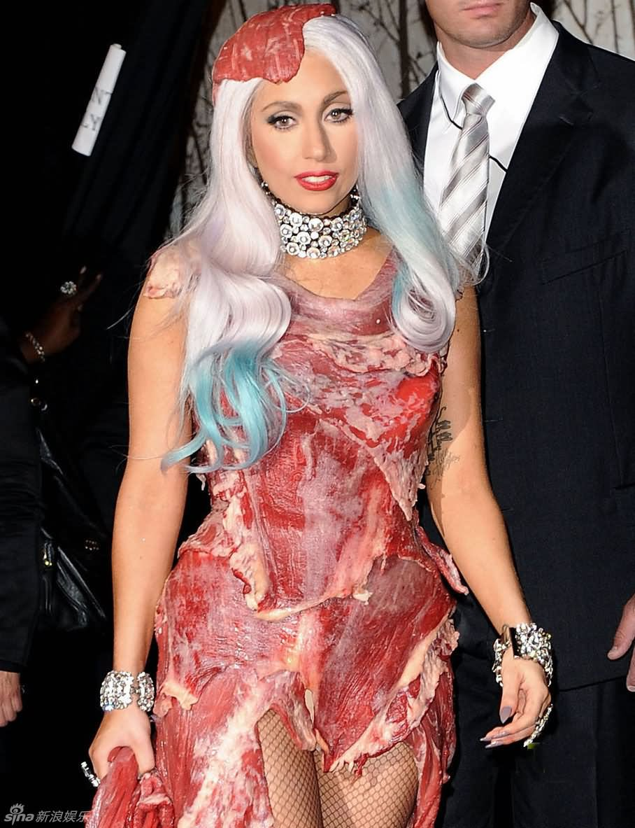 Lady Gaga In Funny Red