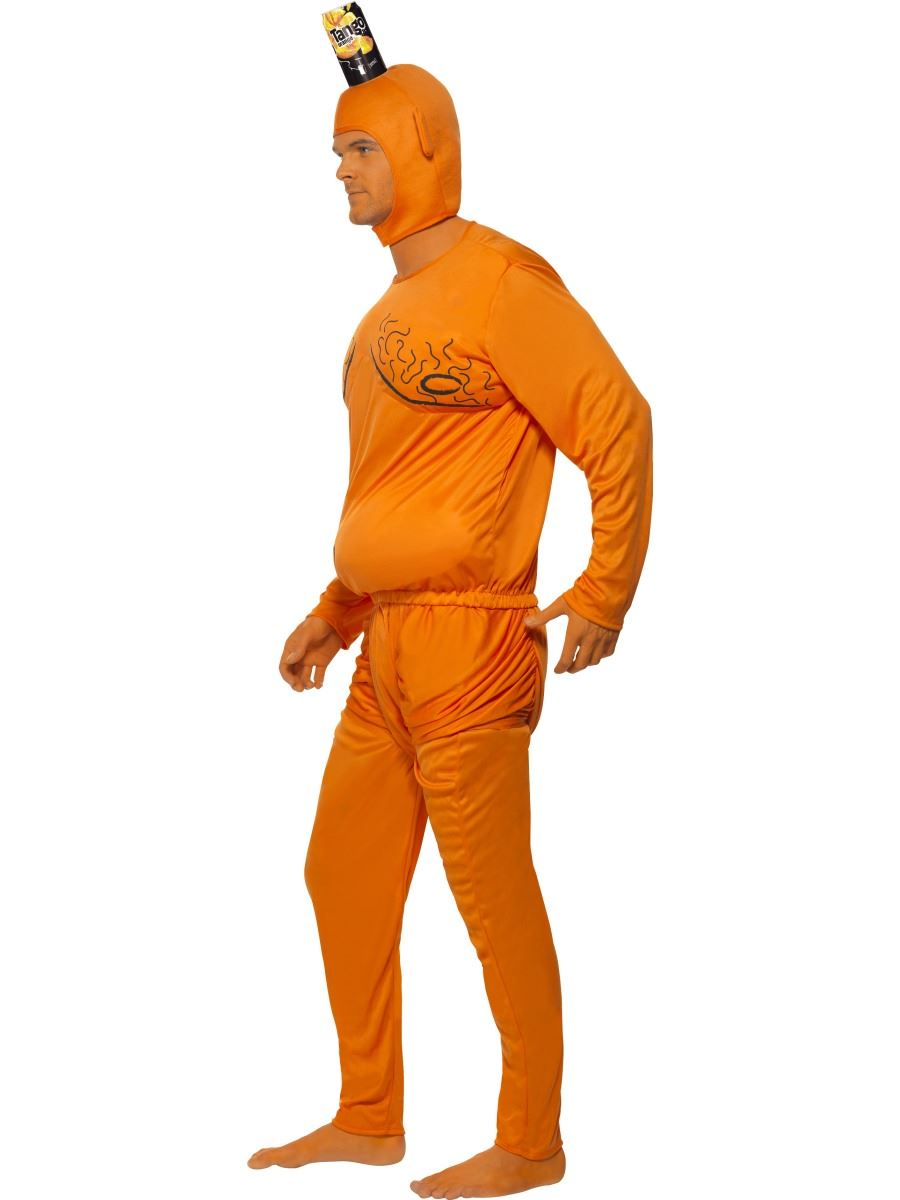 Man in orange tango funny dress