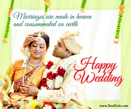 Marriage Are Made In Heaven And Consumed On Earth Happy Wedding