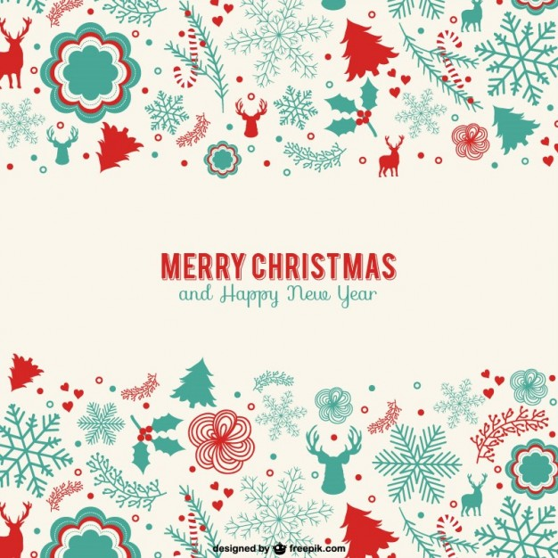 Merry christmas and happy new year greeting card m4hsunfo