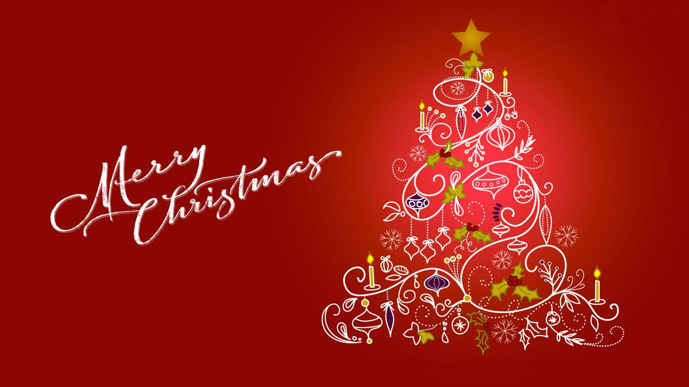 merry christmas tree clipart picture