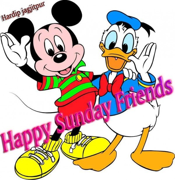 Mickey Mouse And Donald Duck Wishes You Happy Sunday Friends