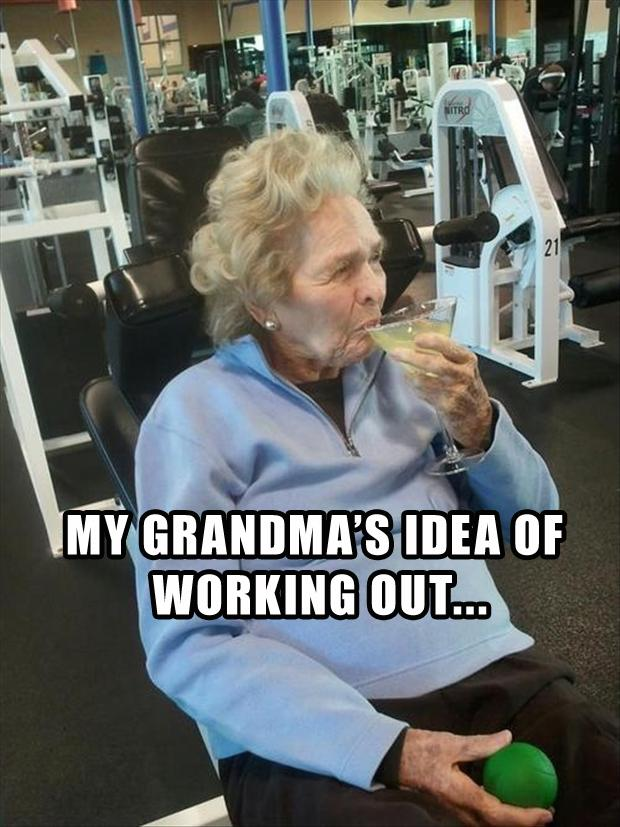 My Grandma S Idea Working Out Funny Exercise Image