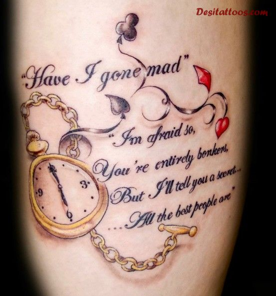 Pocket Watch And Mother Sayings Tattoo