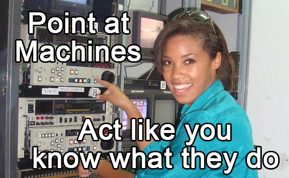 Funny Meme Engineering : Point at machines funny technology meme