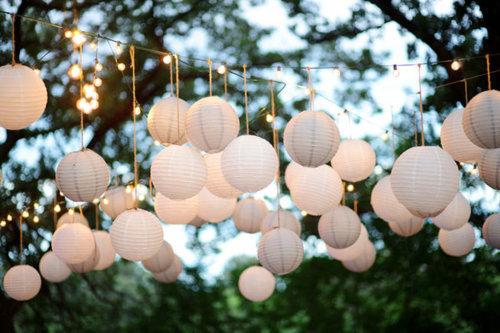 pretty white light lanterns christmas decoration - Christmas White Lights