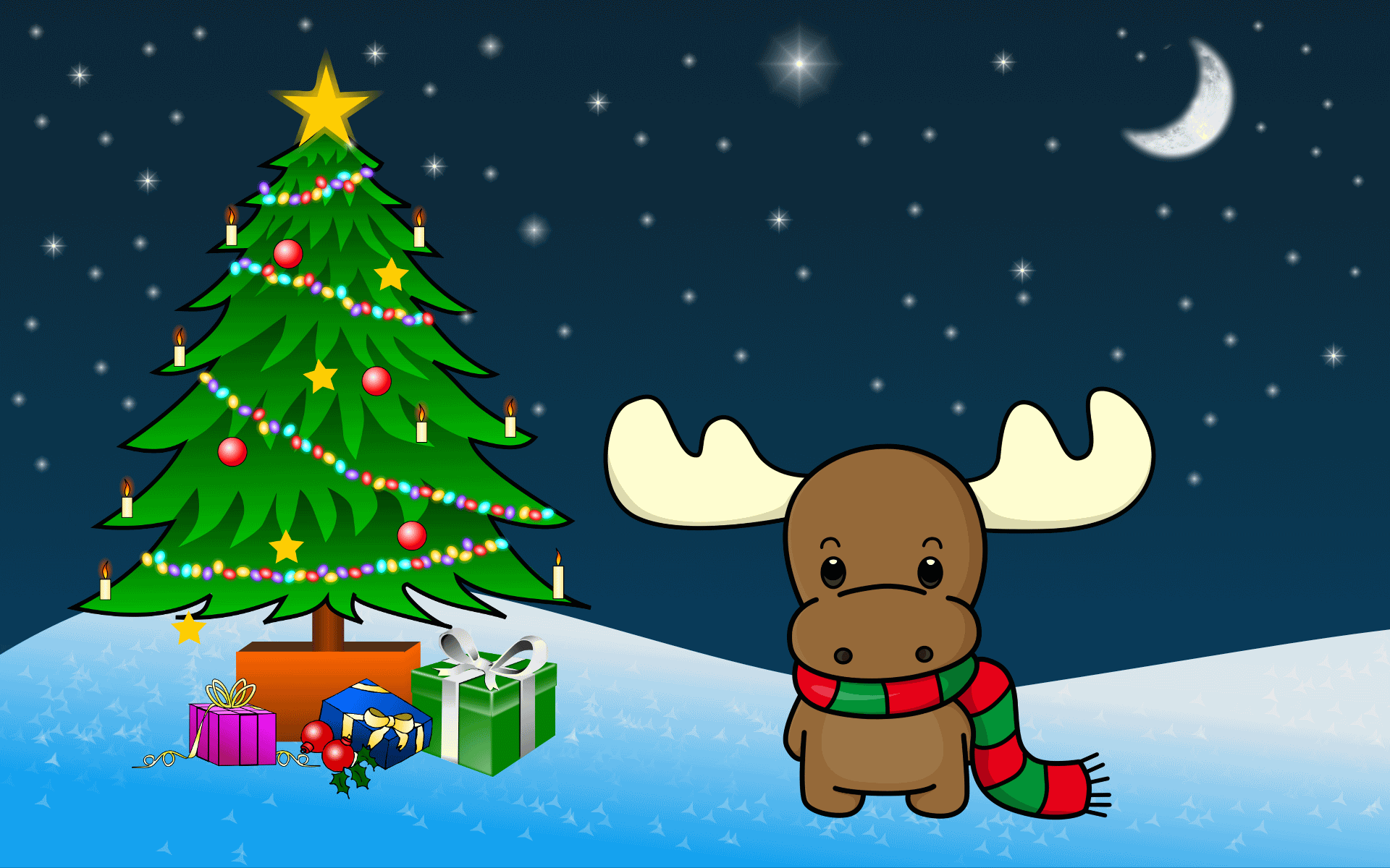 Merry Christmas Images Hd.Reindeer Wishes You Merry Christmas Hd Wallpaper