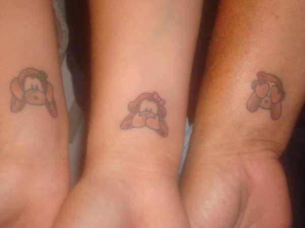 a474fb31d Three Wise Monkey Tattoo On Wrists