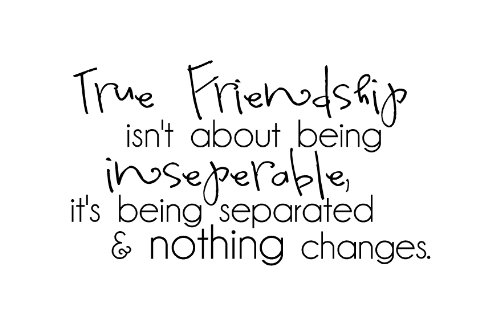 Quote About True Friendship Simple True Friendship Isn't About Being Inseparable It's Being