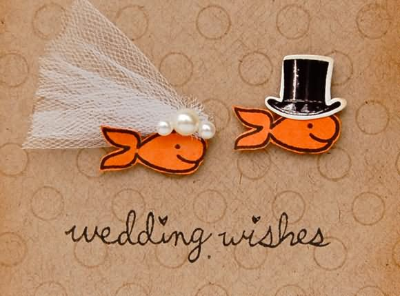 Wedding Wishes Fishes Marriage Picture