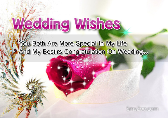 wedding wishes you both are more special in my life