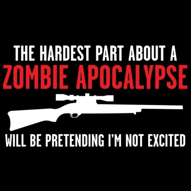 Will Be Pretending I Am Excited Funny Zombie Picture