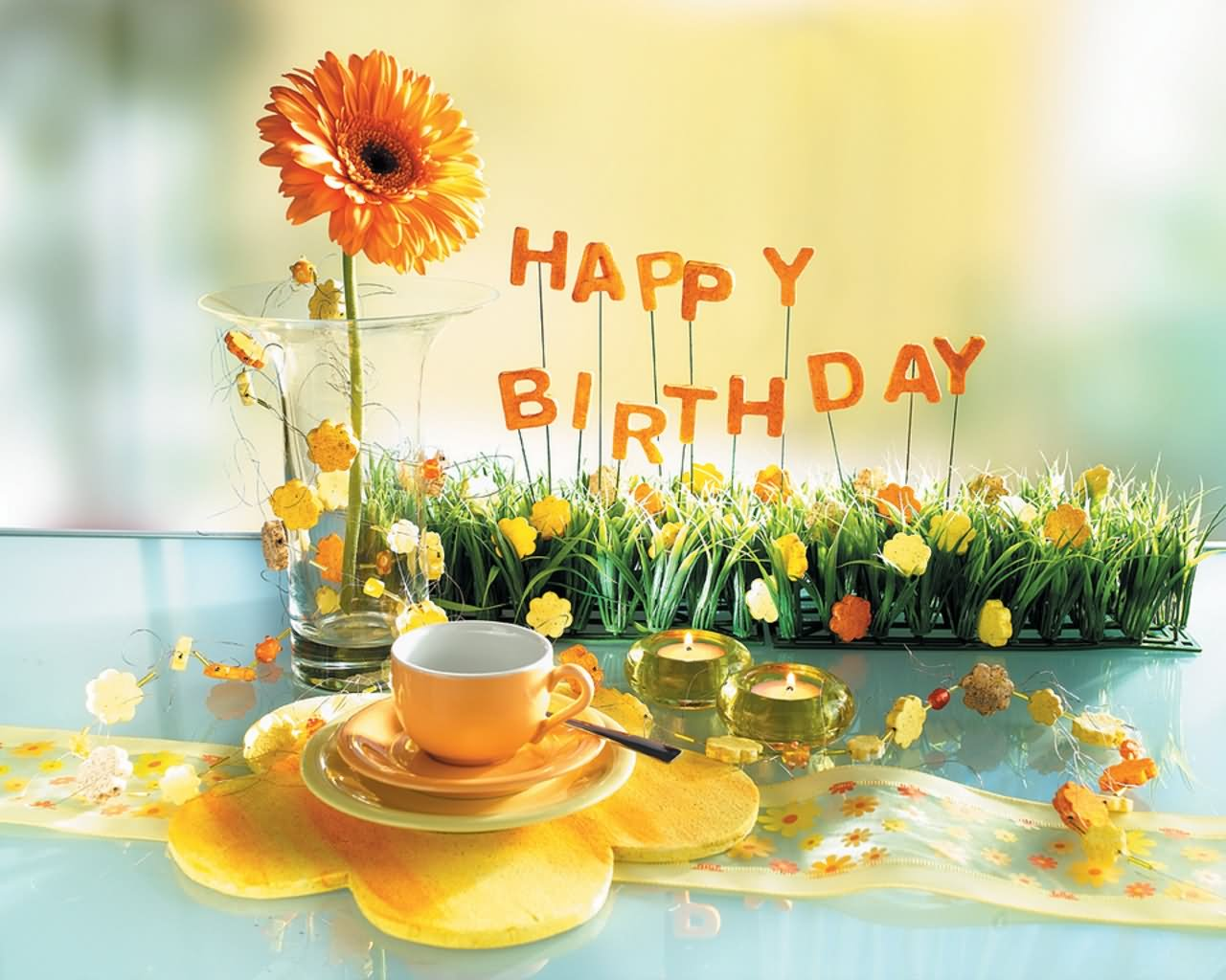 Wish You Very Happy Birthday Flower Picture