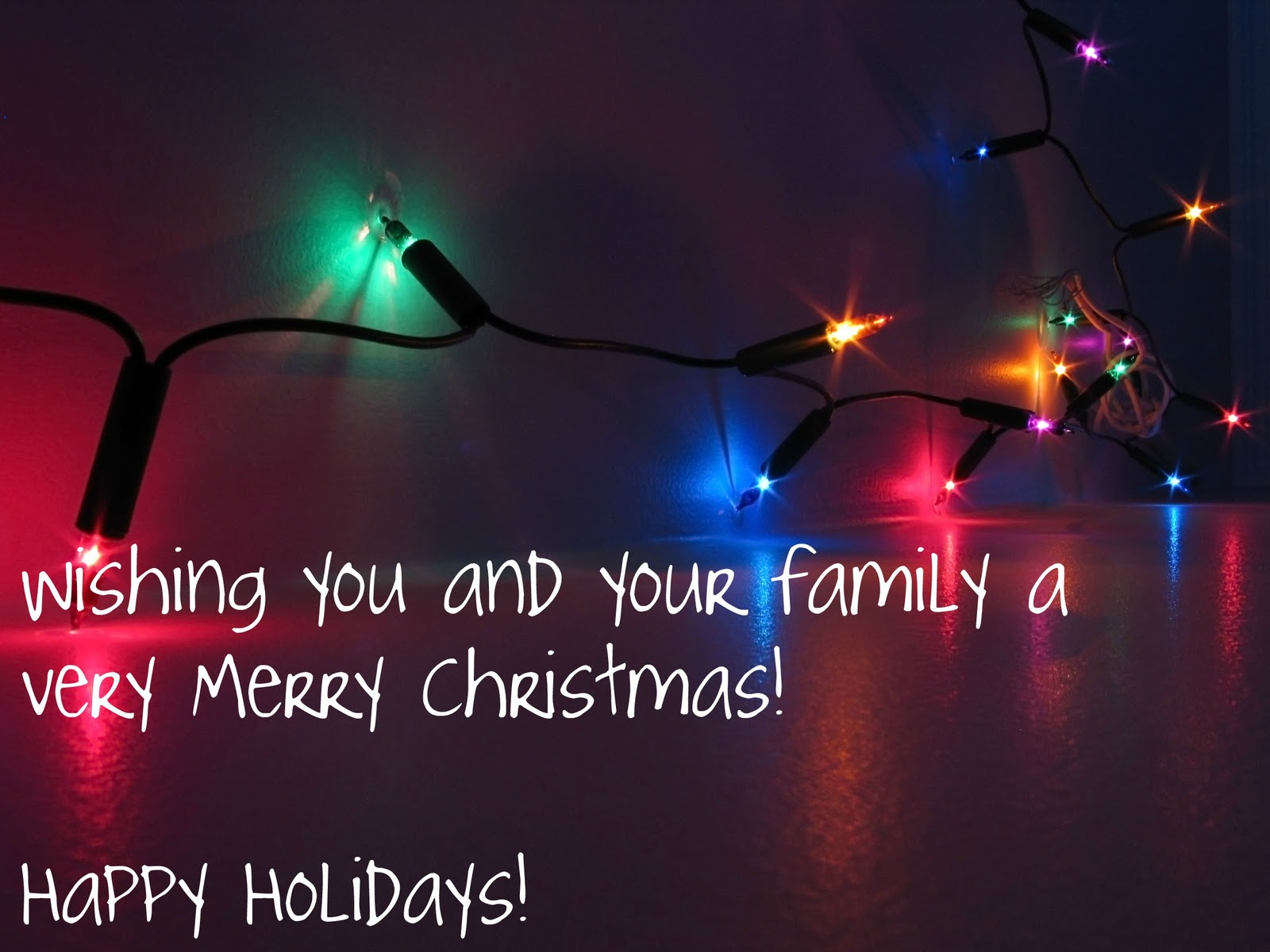 Wishing You And Your Family A Very Merry Christmas Happy Holidays