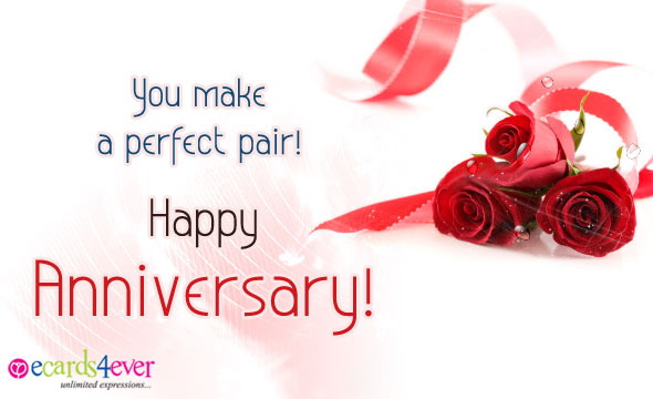 15 delightful happy anniversary pictures you make a perfect pair happy anniversary voltagebd Choice Image