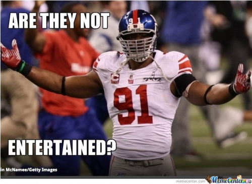 Funny Nfl Memes: Are They Not Entertained Funny Sport Meme