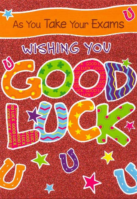 As You Take Your Exams Wishing You Good Luck  Exam Best Wishes Cards