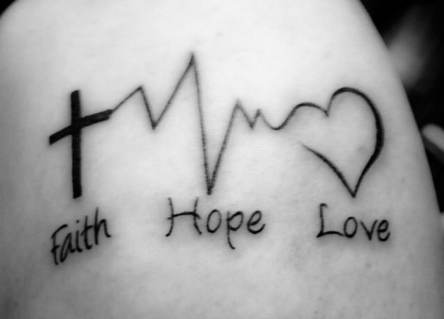 17 latest faith tattoo images and designs for Faith hope love tattoo meaning