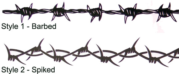 3 barbed wire tattoo designs for Barbed wire tattoo designs