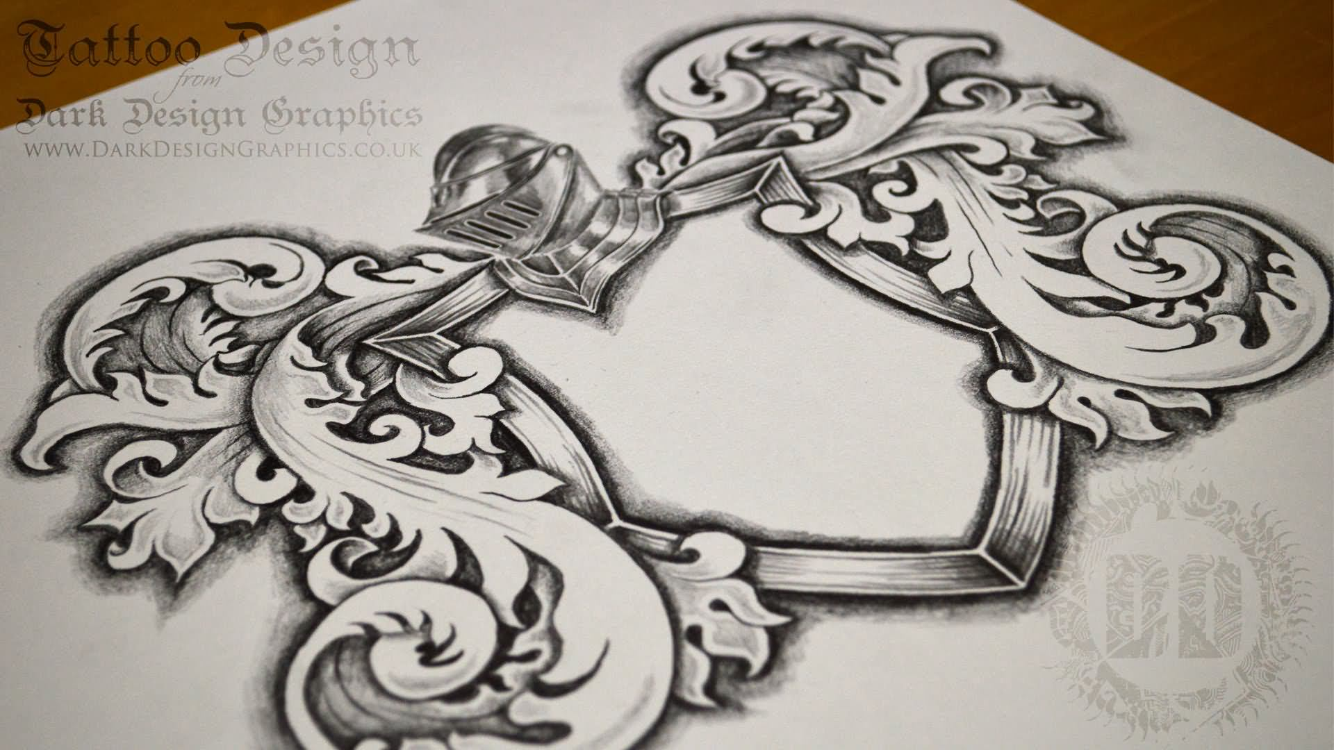 20 family crest tattoo tattoo designs and images. Black Bedroom Furniture Sets. Home Design Ideas