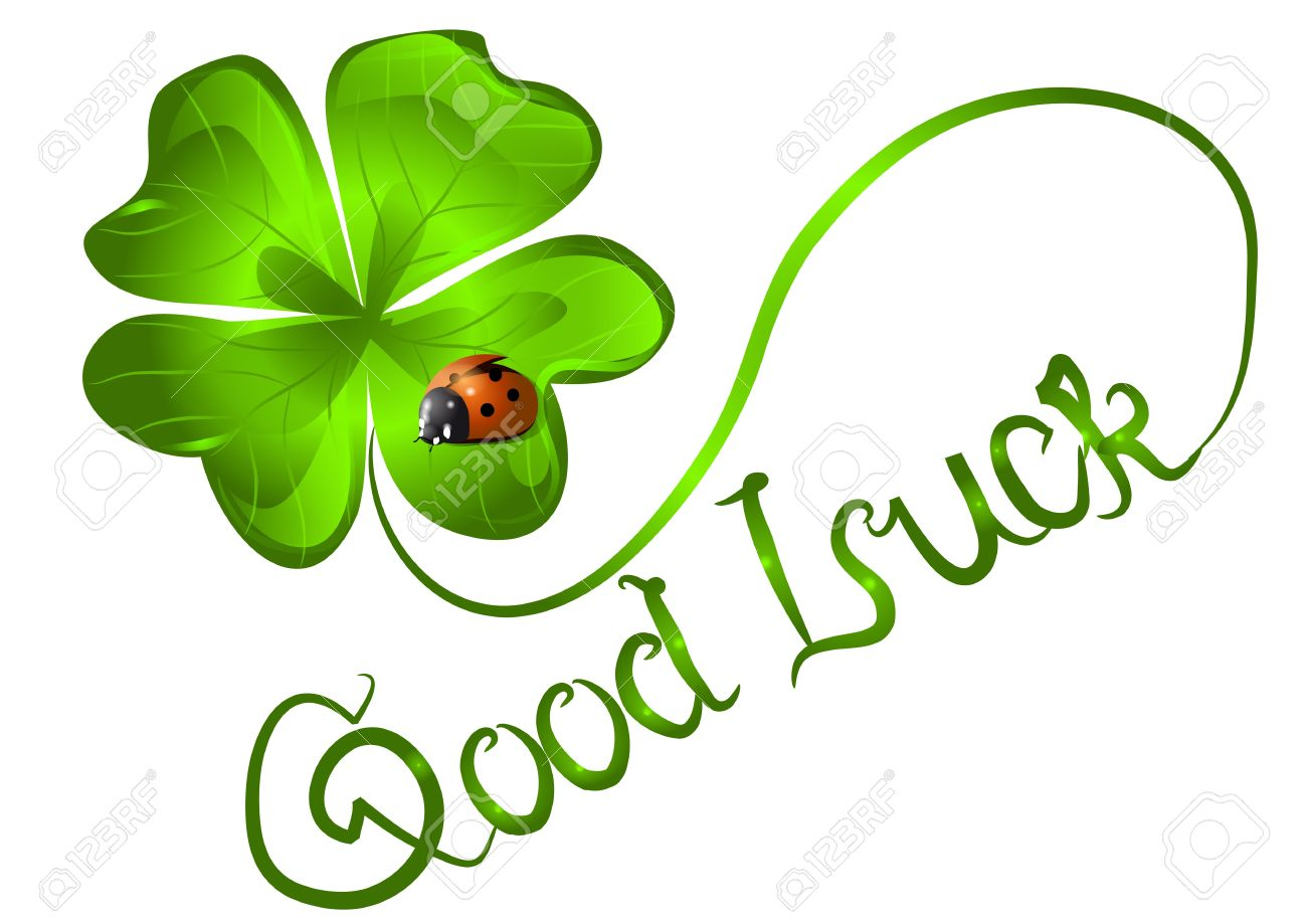 Clover Leaf Good Luck Lady Bug Picture