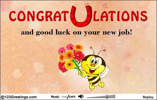 congratulations and good luck on your new job