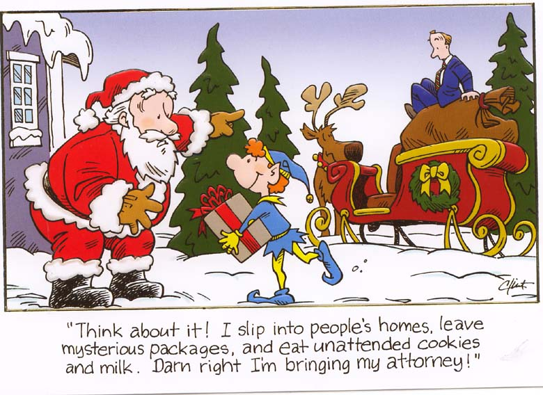 Dram Right I Am Bringing My Attorney Funny Christmas Card