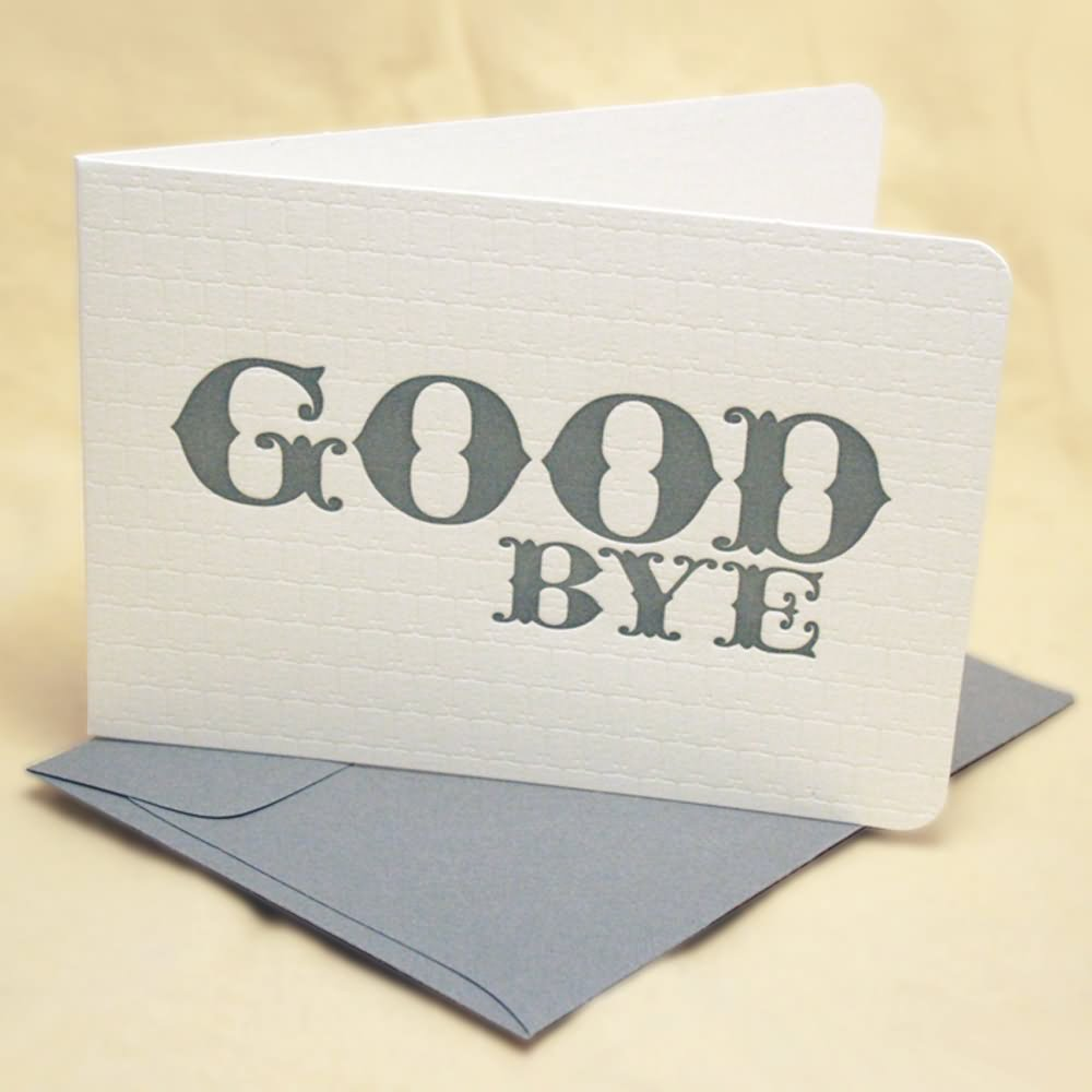 Good bye greeting card kristyandbryce Image collections
