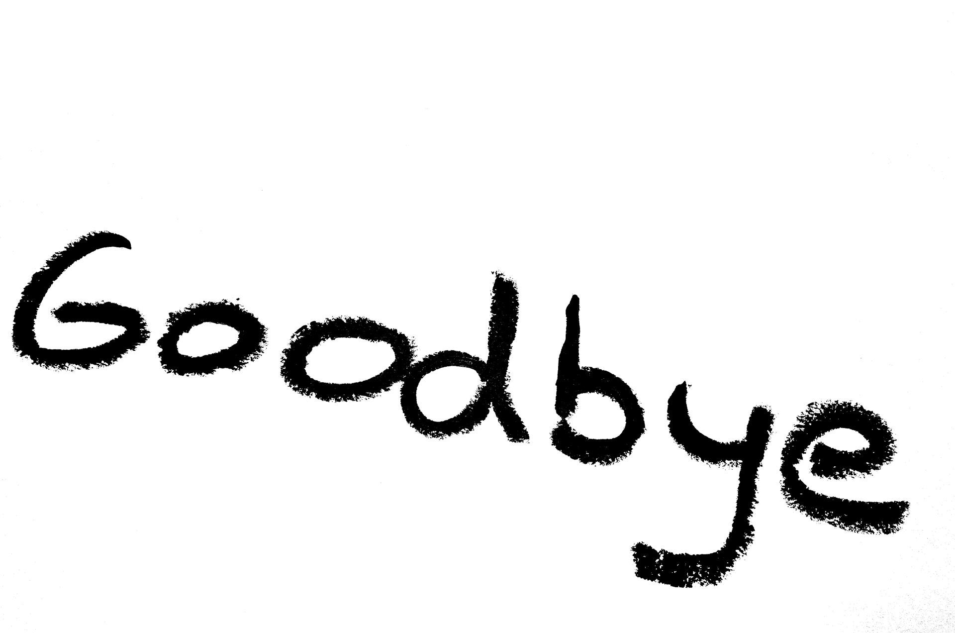 Výsledek obrázku pro goodbye