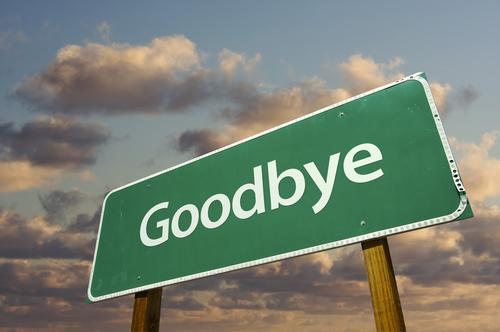 Good Bye Signboard