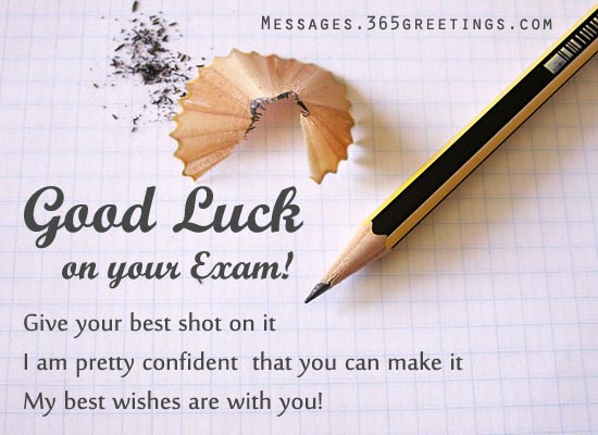 43 Best Good Luck Wishes For Exams Picture – Exam Best Wishes Cards