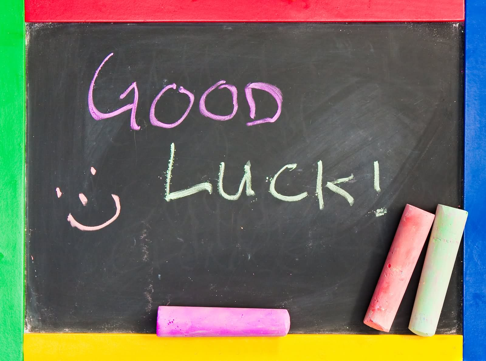 43 best good luck wishes for exams picture good luck written on blackboard kristyandbryce Images