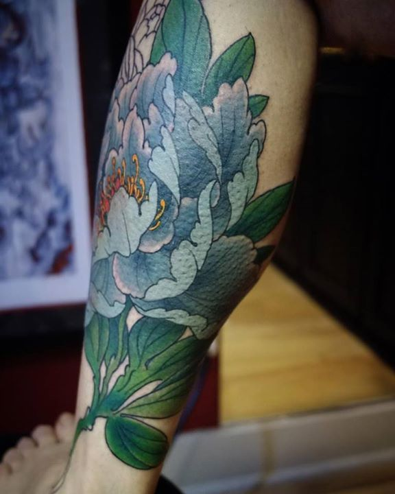 43 Japanese Peony Tattoos Collection: 37+ Black And Grey Peony Tattoos