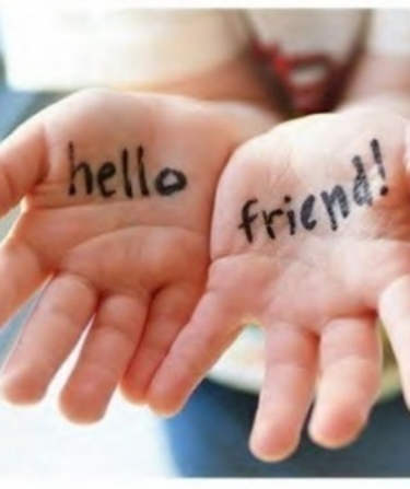 Hello Friend On Hands Picture