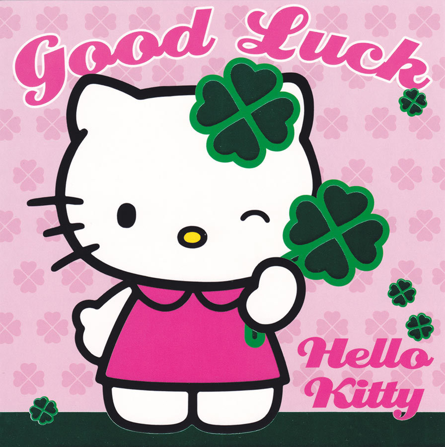 Hello Kitty Good Luck  Exam Best Wishes Cards