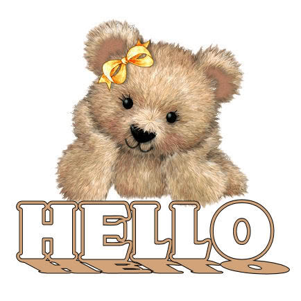 Image result for teddy bear say hi